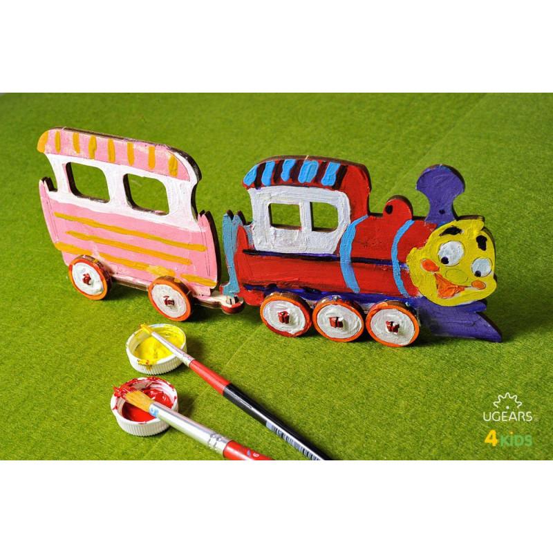 Puzzle mecanic, locomotivă 3D pentru copii  3345