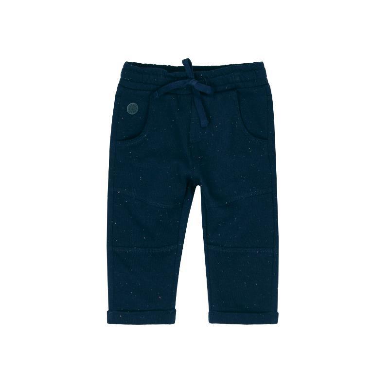 Pantaloni de bumbac albaștri cu șireturi pentru băieți  363