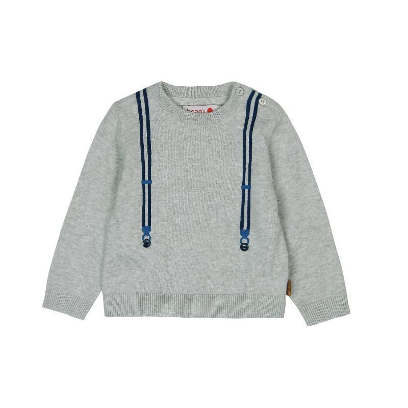 Un pulover cu decorațiuni și imprimeuri  3638