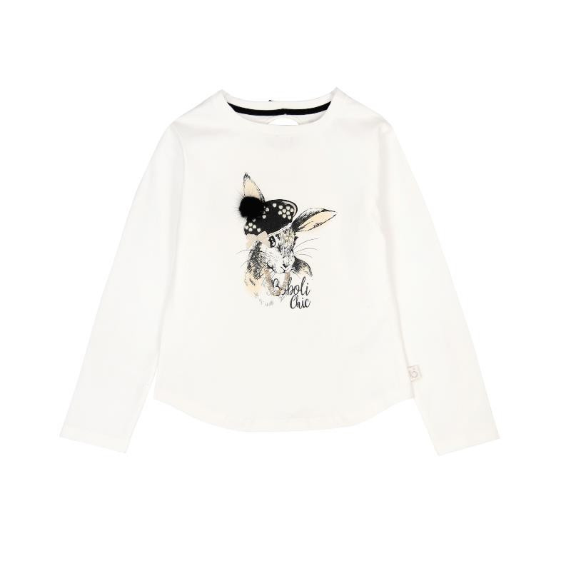 Bluză din bumbac cu imprimeu de iepuraș pentru fete  3662