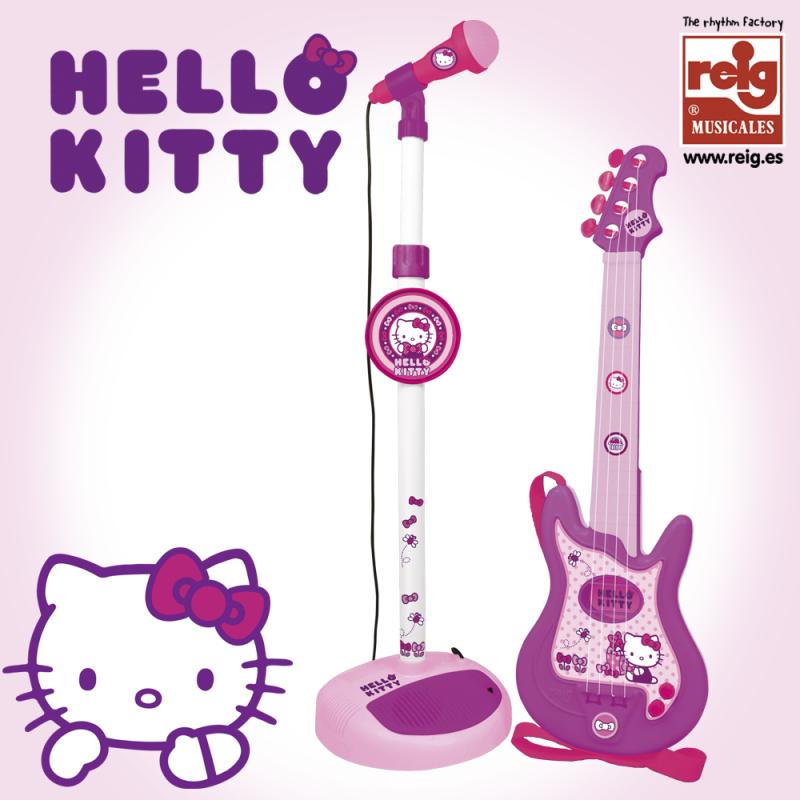 Set de chitară și microfon roz pentru copii  3737