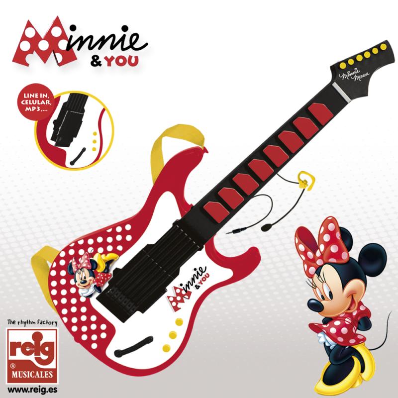 Chitară electronică pentru copii cu microfon proiectat pentru Minnie Mouse  3746