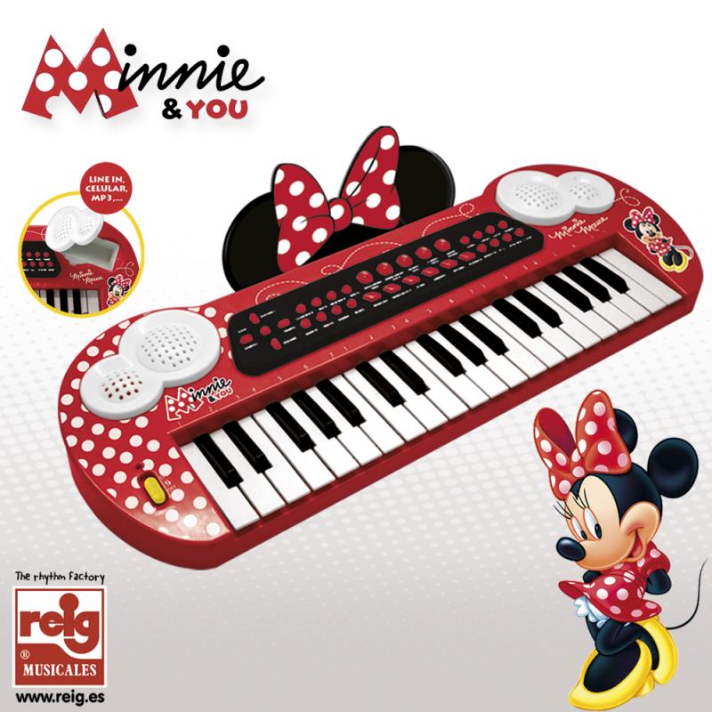 Pian electronic pentru copii, Minnie Mouse  3747