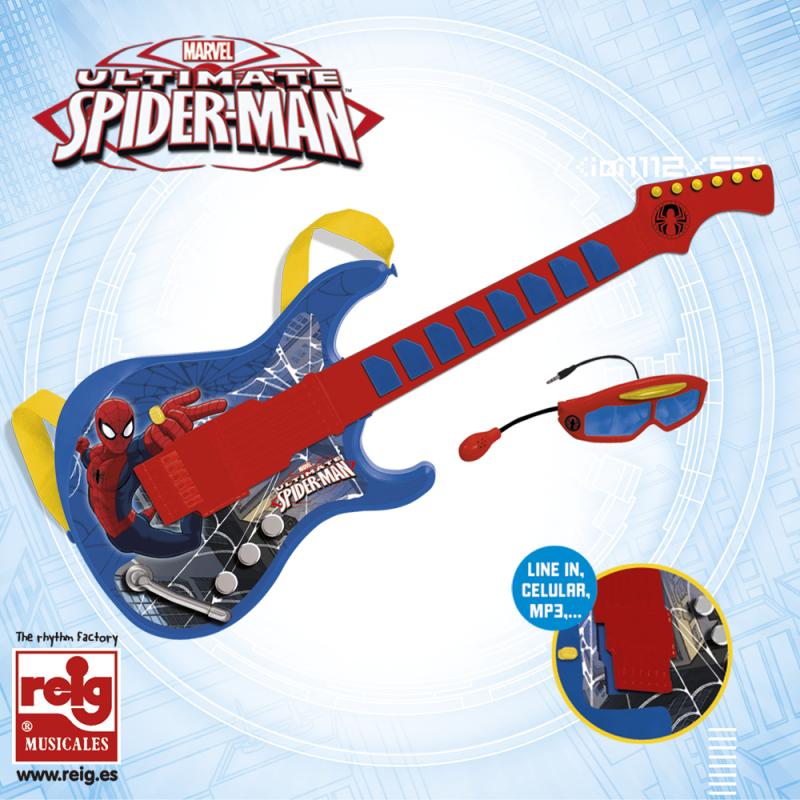 Chitară electronică pentru copii cu ochelari și microfon  3789