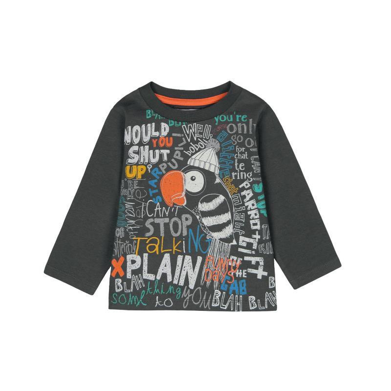 Bluză din bumbac cu mânecă lungă și imprimeu colorat pentru un băiat  379