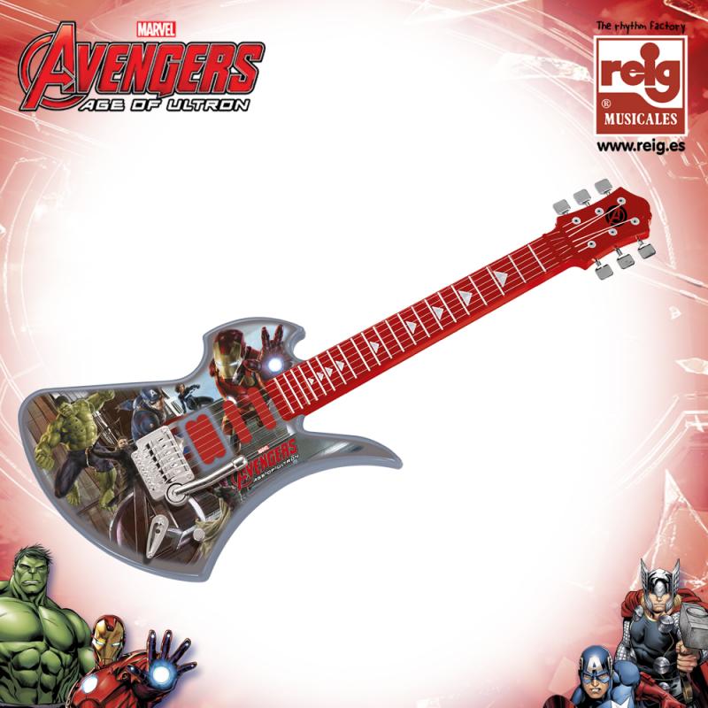Chitară electronică pentru copii cu desen Avengers  3820