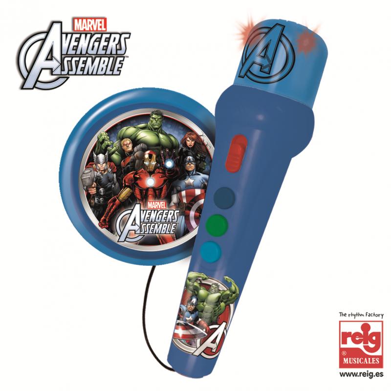Microfon pentru copii cu amplificator cu desen Avengers  3823