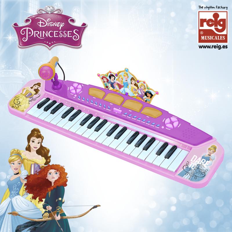 Pian electronic de jucărie pentru fete cu microfon  3827