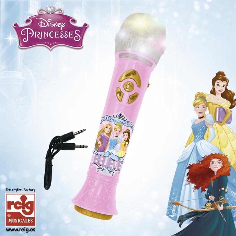 Microfon roz pentru copii cu amplificator  3829