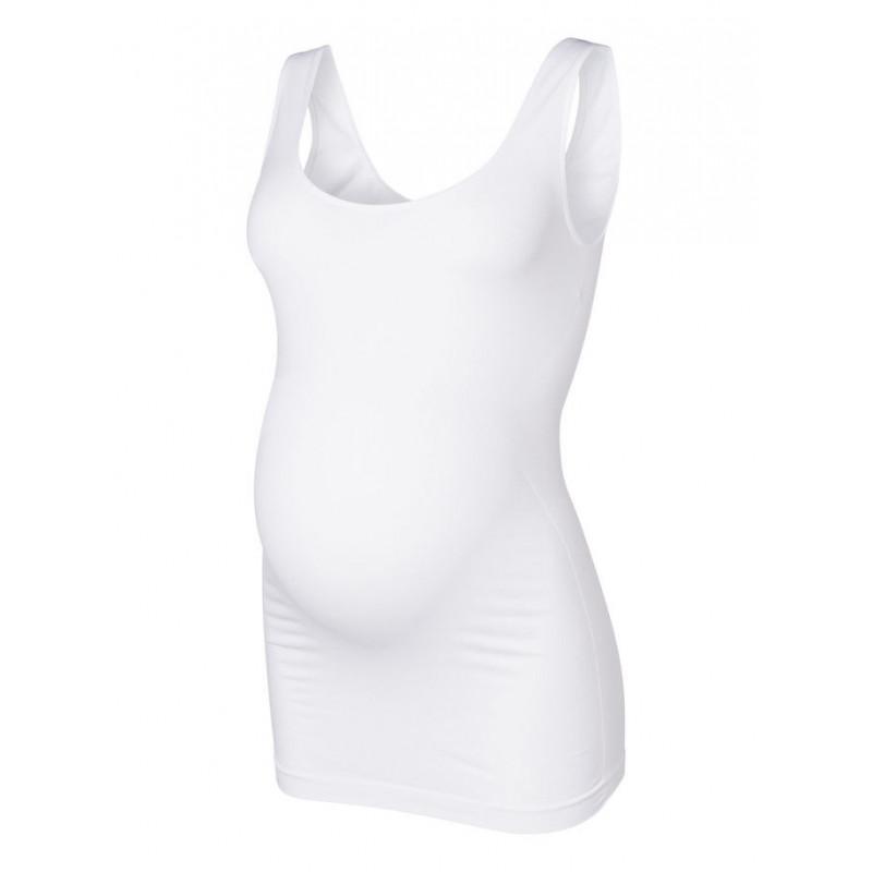 Tricou fără cusături pentru femei însărcinate, alb  3872