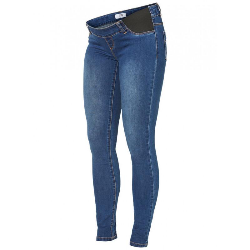 Jeans slim fit, pentru gravide, albastru bleumarin  3924