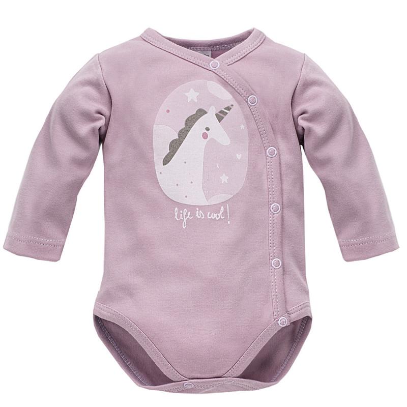 Body de bumbac pentru fetițe, cu imprimeu unicorn  3956