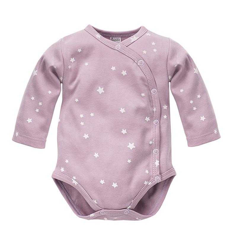Body de bumbac pentru fetițe cu stele mici  3957