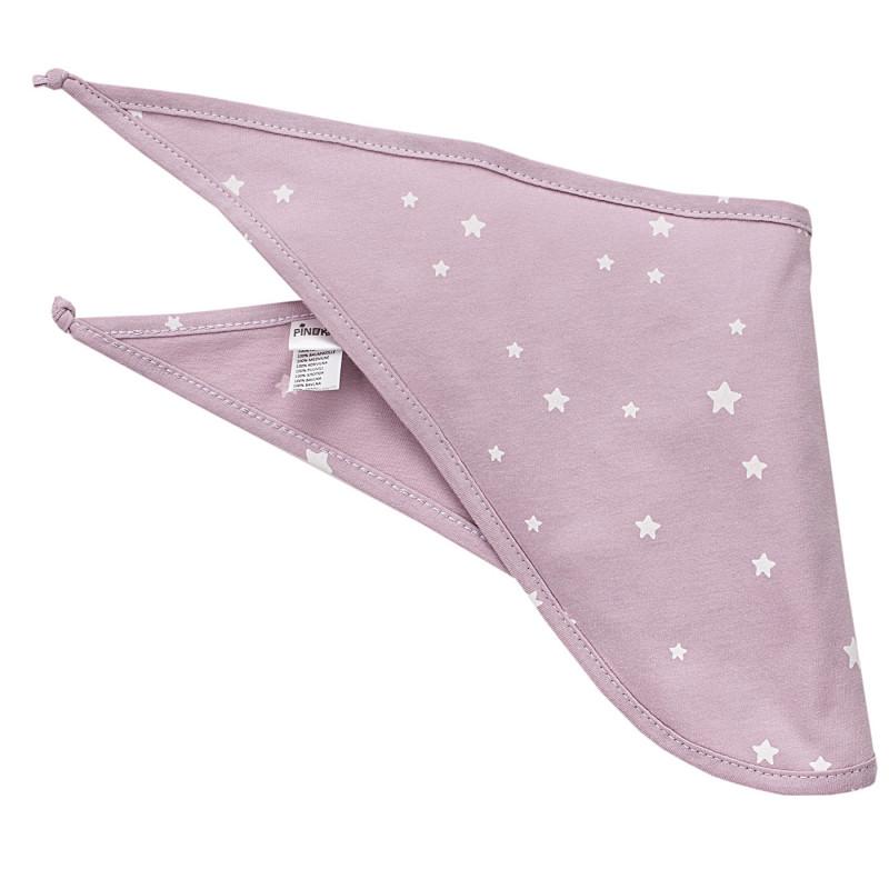 Bandana roz cu imprimeu alb  3964