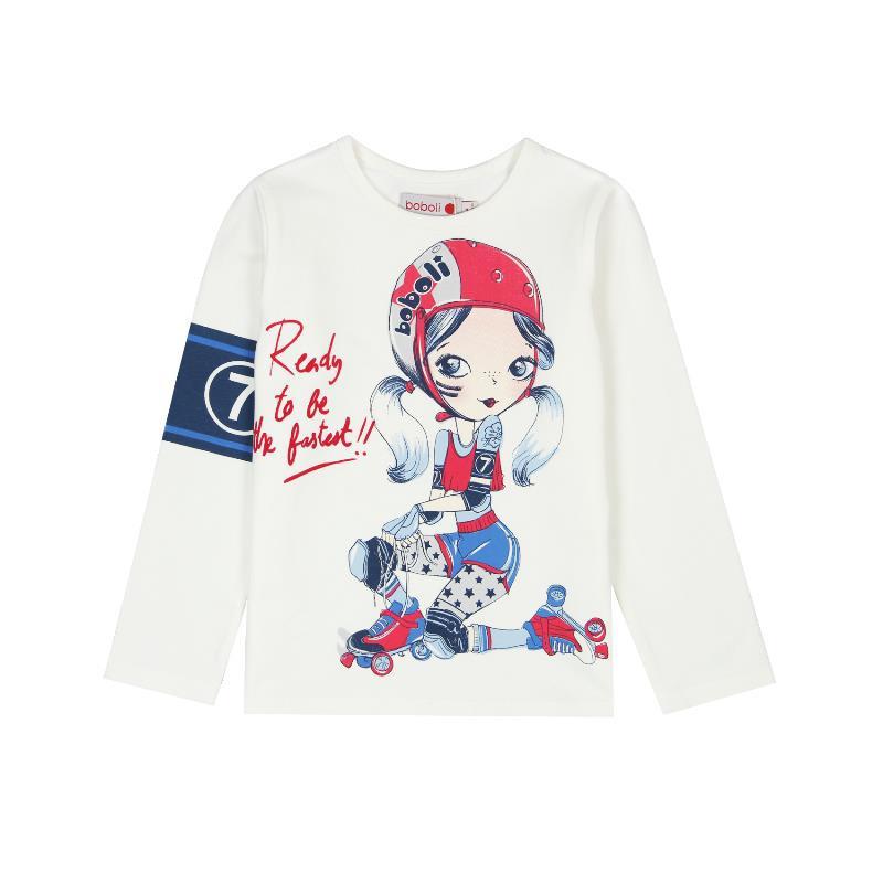 Bluză cu mânecă lungă, cu un design delicat pentru fete  401