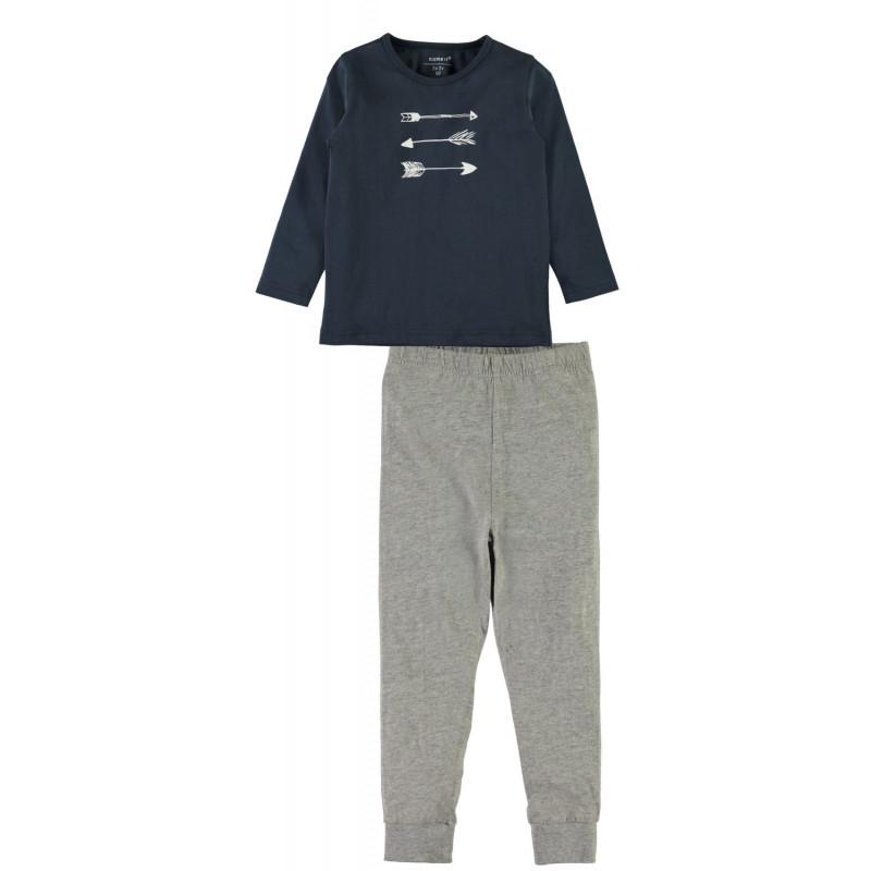 Pijama moale din bumbac pentru băieți fără etichetă proeminentă  4044