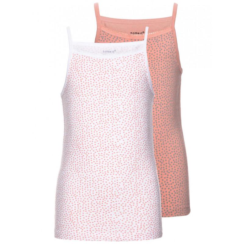 Set de 2 tricouri din bumbac pentru fete  4057