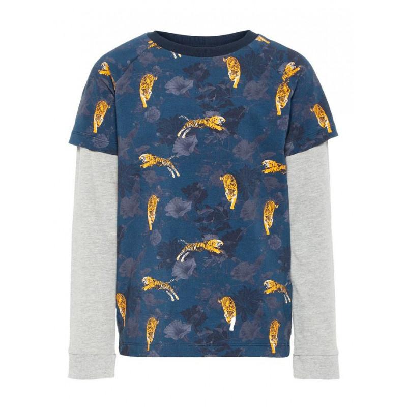 Bluza cu mânecă lungă pentru băieți, cu imprimeu TIGER  4068