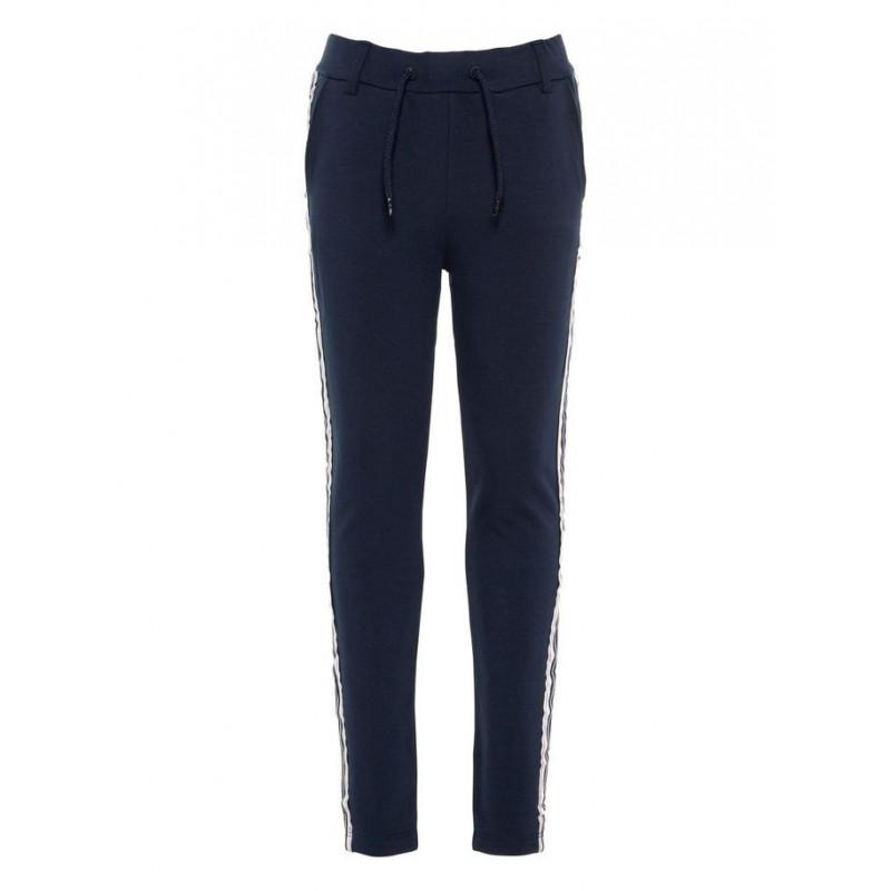 Pantaloni negri pentru fete, cu bandă verticală pe lateral  4095