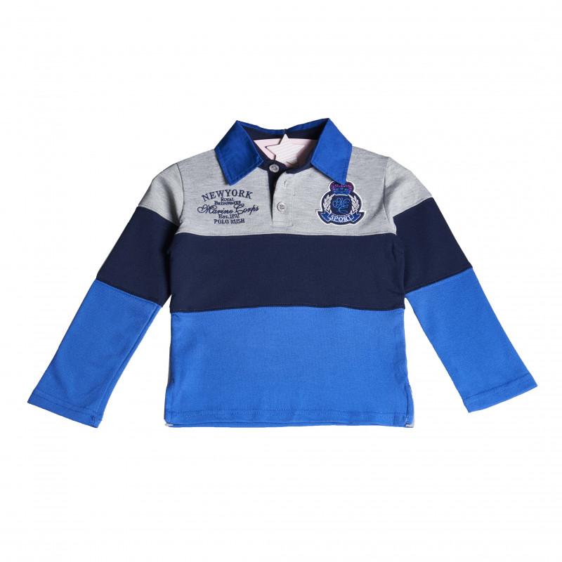 Bluză cu mânecă lungă pentru băieți, albastru  4131