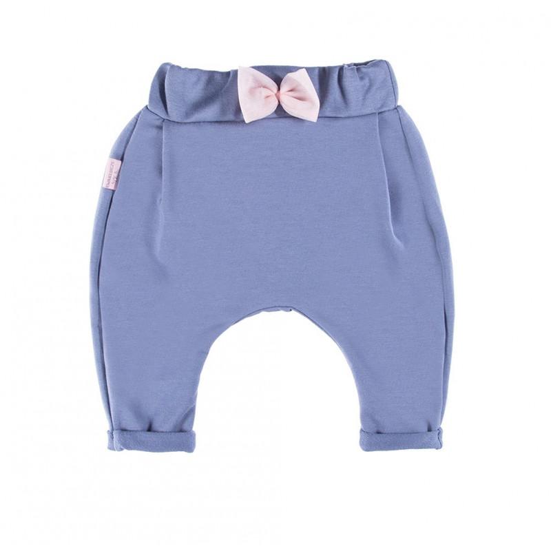 Pantaloni sport din bumbac cu panglică roz pentru fetițe  41586