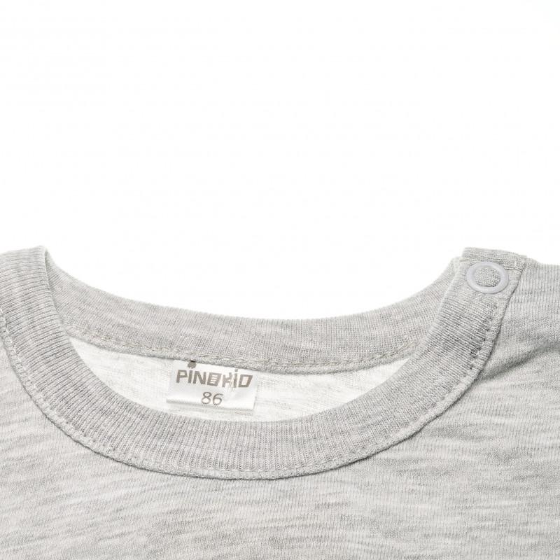 Bluză din bumbac cu mânecă lungă cu aplicație de pisoi negru pentru fetițe  42576