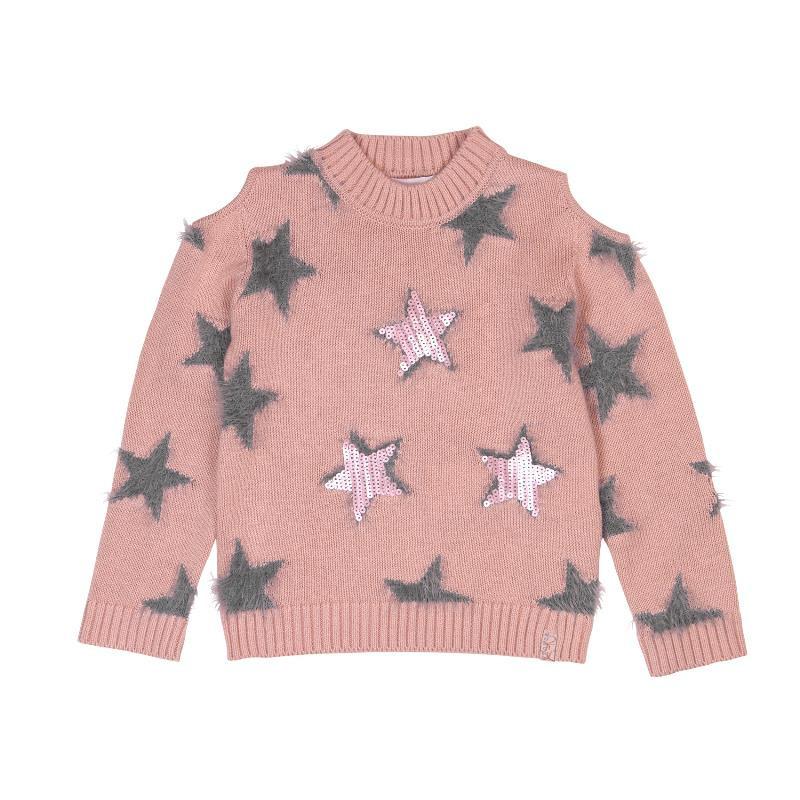 Pulover pentru fete, cu steluțe  433