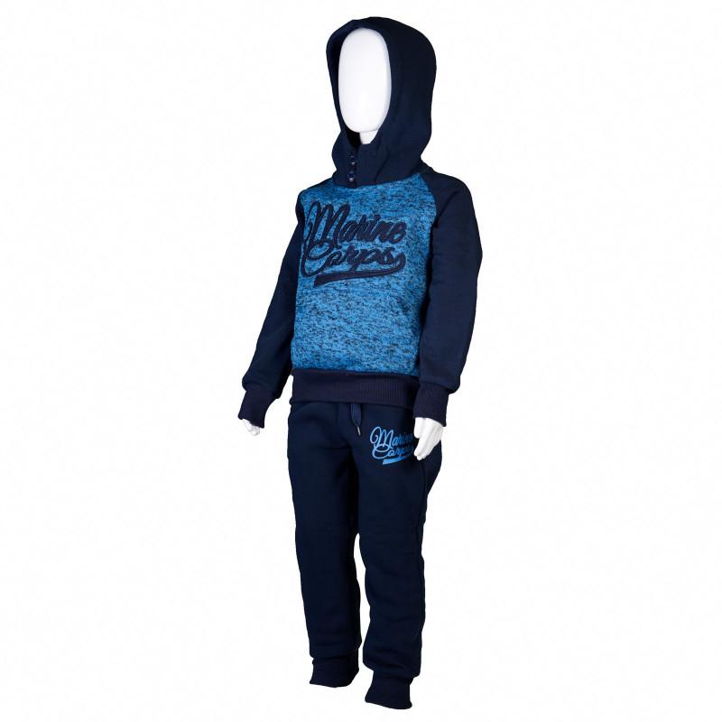 Ținuta sport pentru băieți cu mânecă lungă, albastru  4342