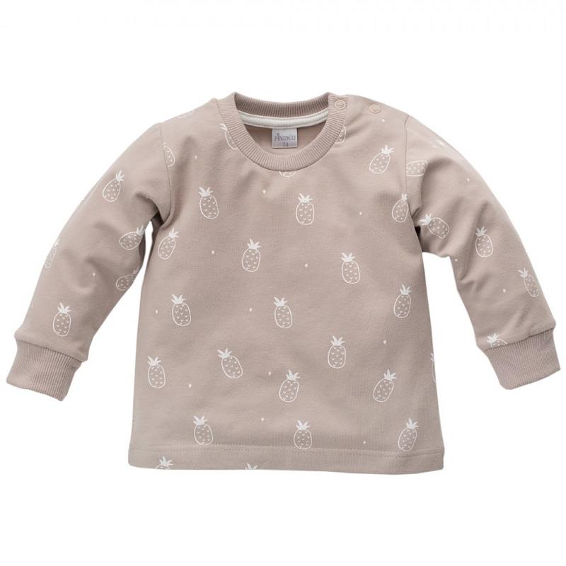 Bluză unisex pentru copii din bumbac cu mâneci lungi și imprimeu ananas  44472