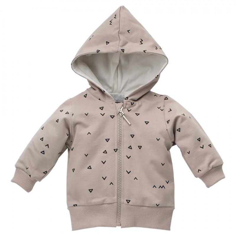 Pulover de bumbac cu imprimeu triunghiular pentru bebeluș-unisex  44473