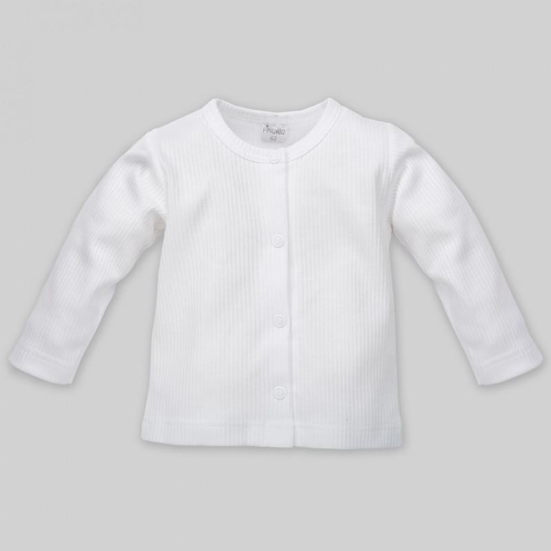 Vestă de bumbac cu mânecă lungă și buton de tec pentru un bebeluș-unisex  44496