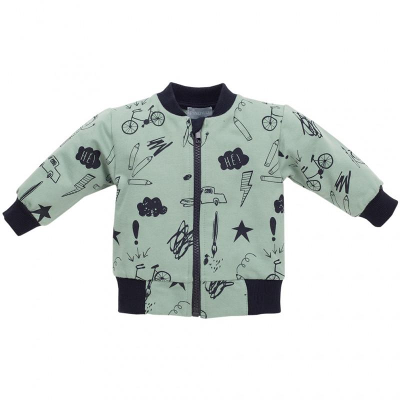 Pulover de bumbac cu imprimeu modern pentru un băiat  44503
