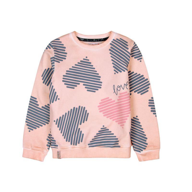 Bluză cu mâneci lungi și inimioare, pentru fete  449