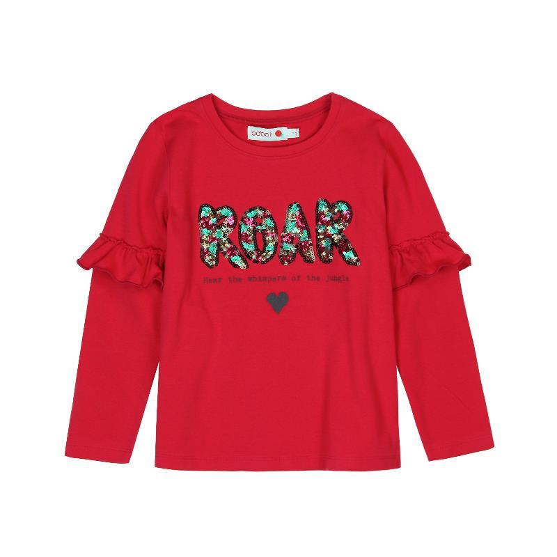 Bluză cu mânecă lungă, cu decor și paiete strălucitoare multicolore pentru fete  512