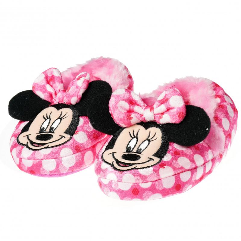 Papuci de casă pentru fete, cu Minnie Mouse pufos  54444