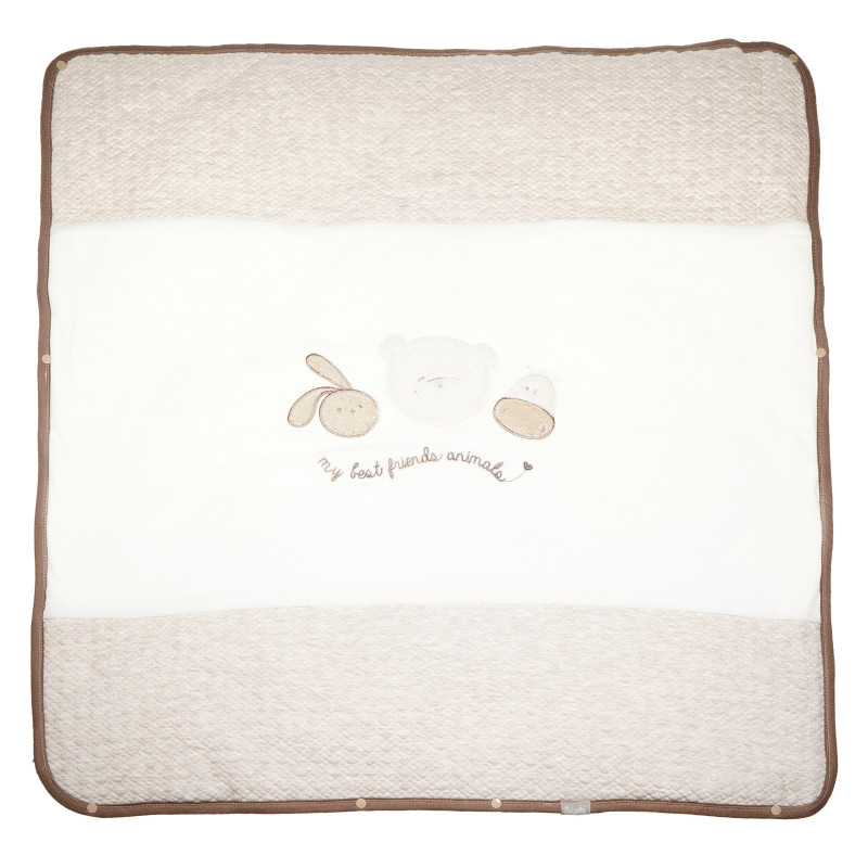 Pătură pentru bebeluși unisex cu aplicație veselă și broderii delicate  54481