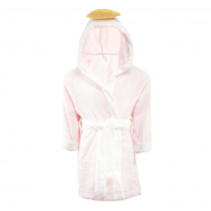 Halat de baie roz cu papuci pentru fetițe  54525