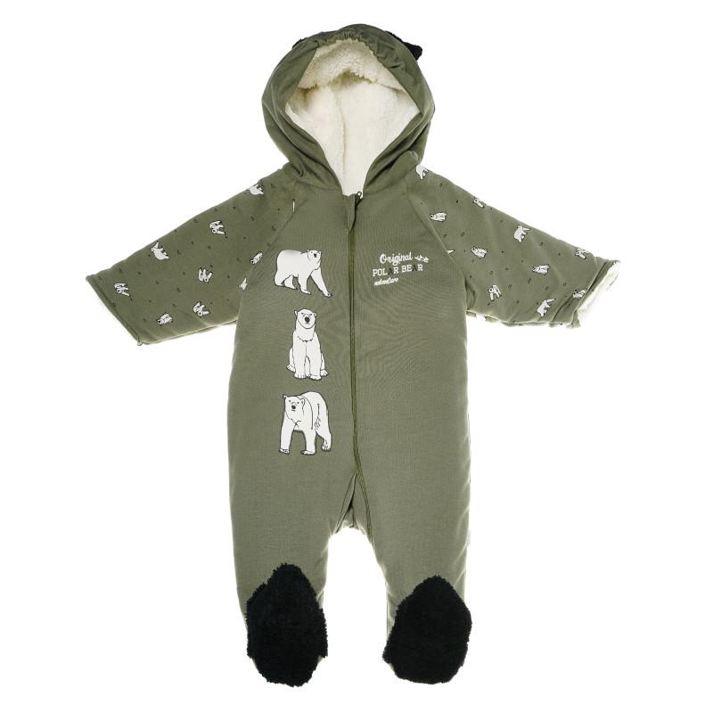 Costum întreg cu o aplicație de urs pentru băieți  54658