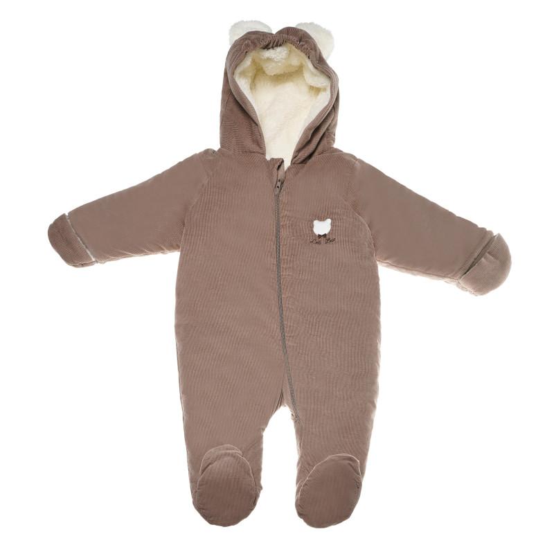 Salopetă unisex pentru bebeluși, maro  54741