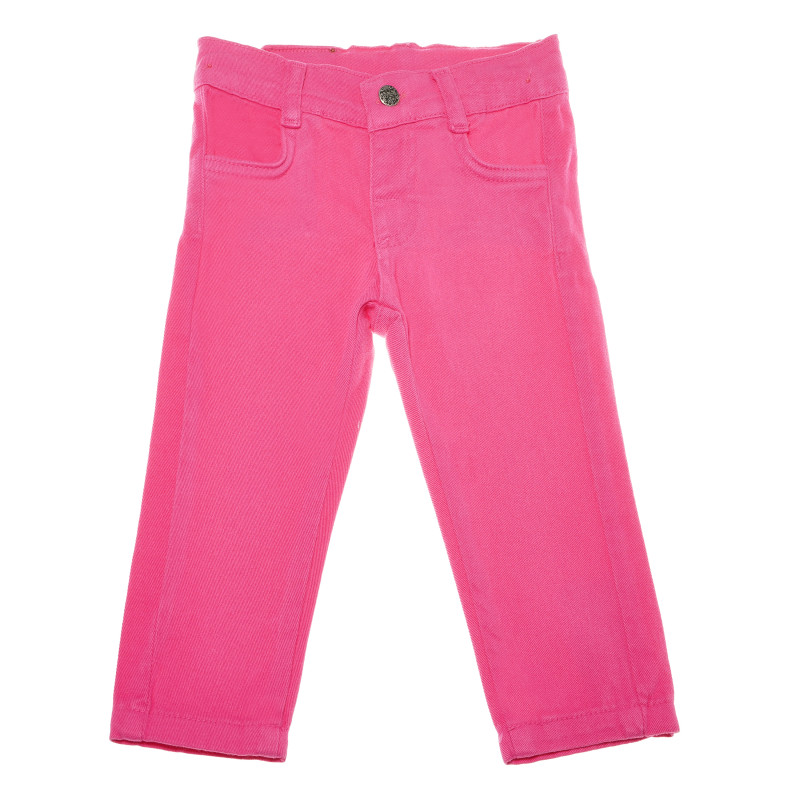 Pantaloni denim, roz închis pentru fete  54825
