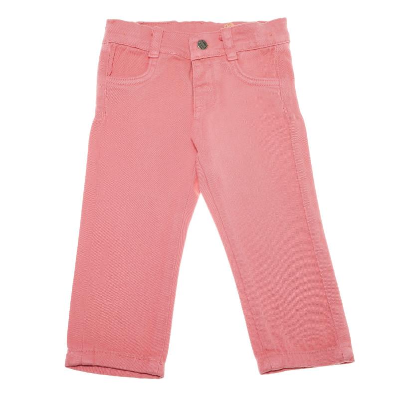 Pantaloni denim, roz deschis pentru fete  54829