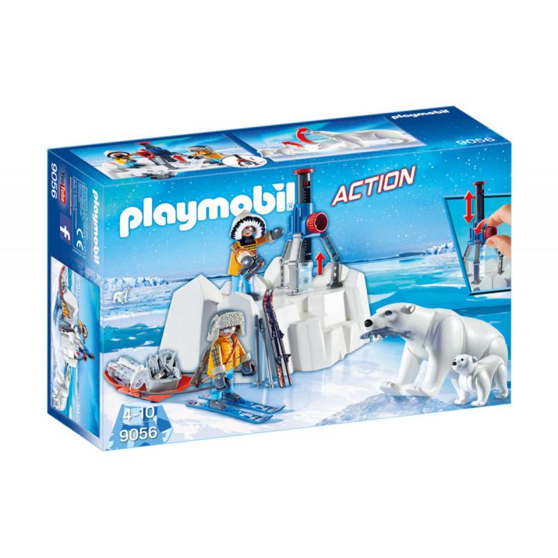 Piese de construcție explorator arctic cu urși polari, peste 20 de bucăți  5745
