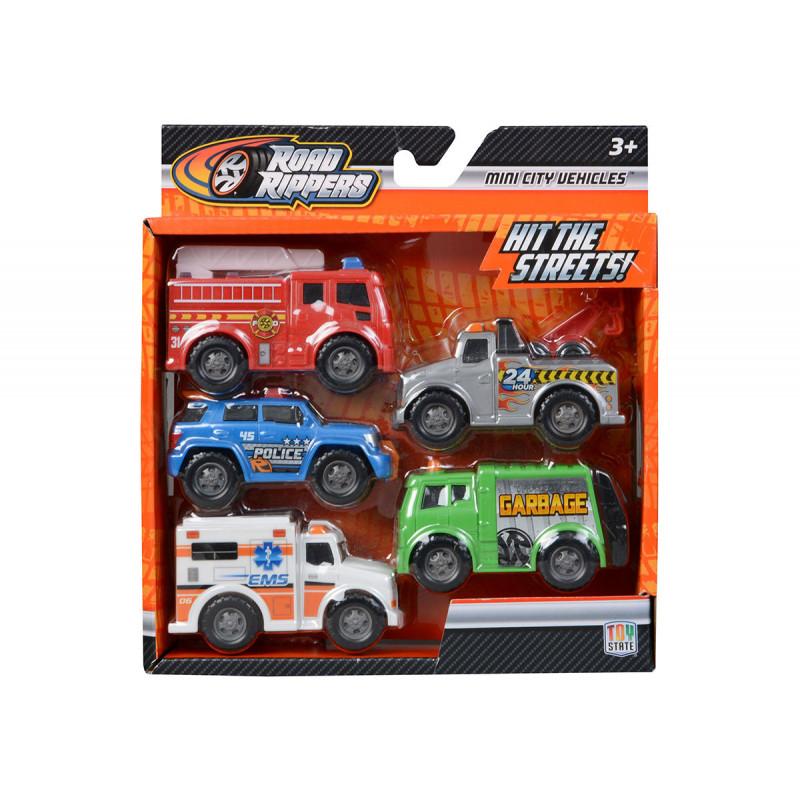 Toy State - Mașini de lucru prin oraș, 5 bucăți în set  5874