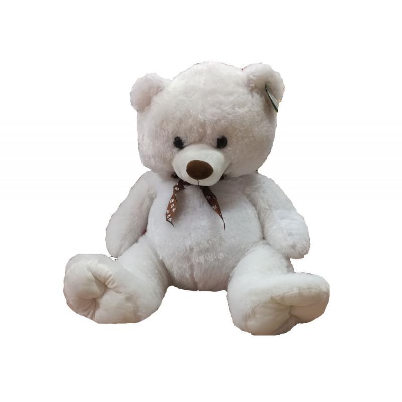 Jucarie de pluș - urs de culoare alb / bej, 60 cm  6043