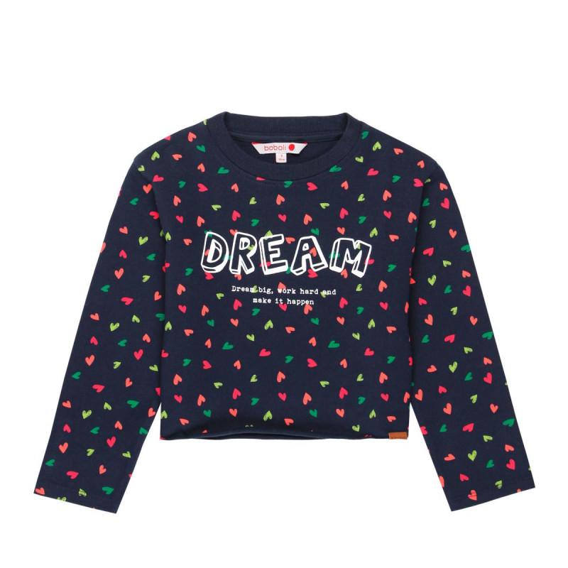 Bluză cu mânecă lungă, cu lungime pe talie pentru fete  650
