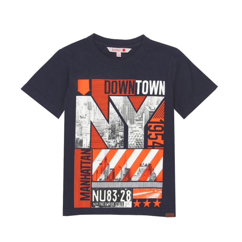 Tricou din bumbac cu un imprimeu modern pentru băieți  665