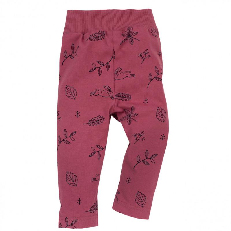 Pantaloni cu imprimeu de petale pentru fete  713