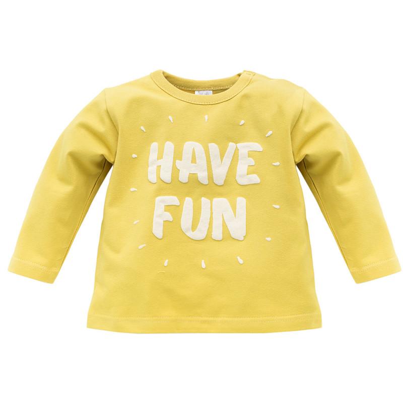 Bluză din bumbac cu mâneci lungi și imprimeu pentru copii în relief - unisex  733