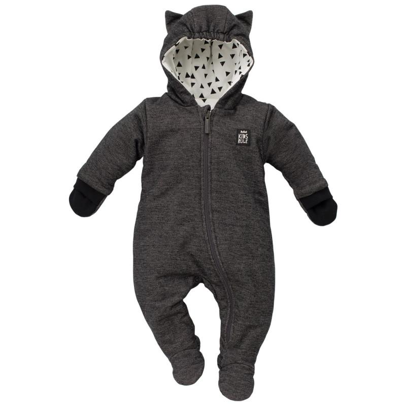 Cosmonaut din bumbac cu glugă și mănuși pentru bebeluș  743