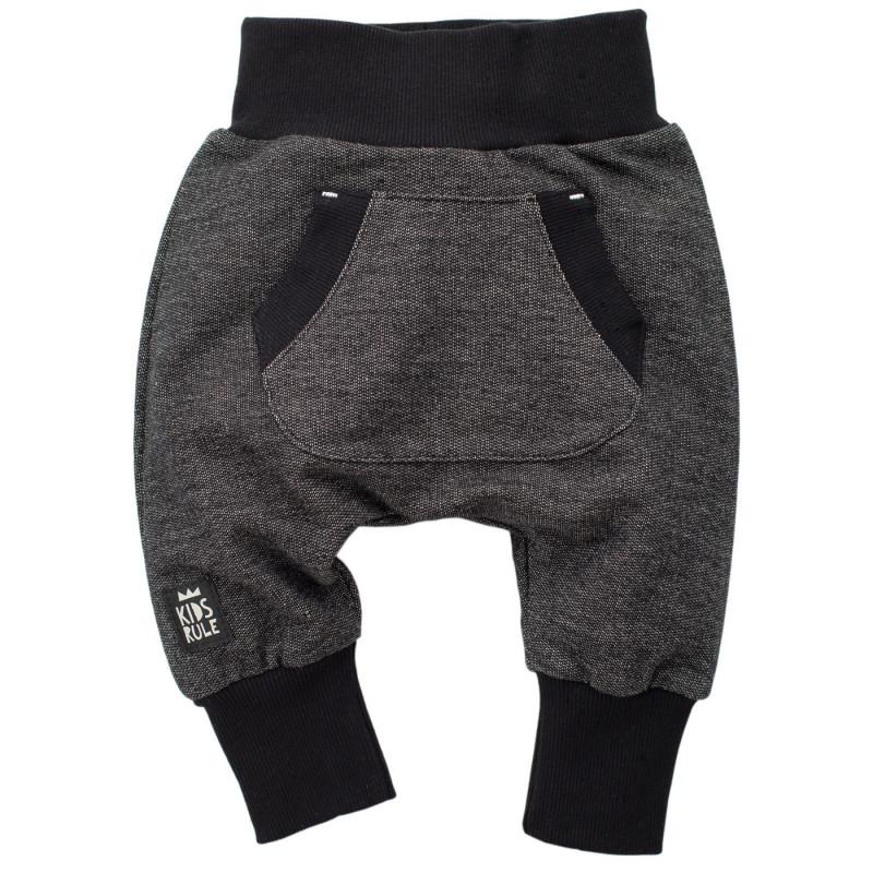Pantaloni de bumbac cu o aplicație mică pentru un băieți  748